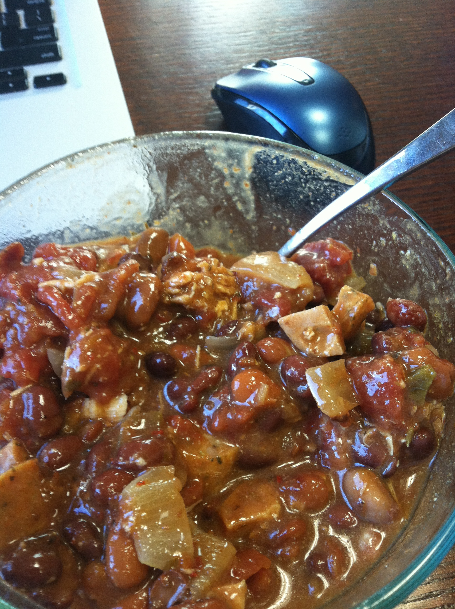 Leftover chili is perfect for lunch the next day!